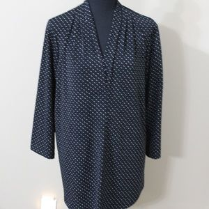 Charter Club Women's 1X Swiss Polka Dot Blouse